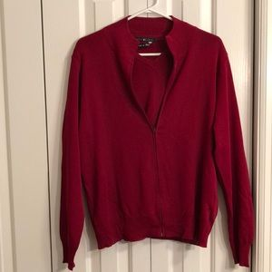 Two-piece burgundy size L Italian sweater set